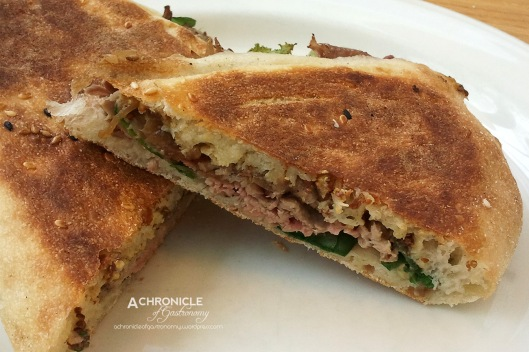 Beef Panini w. Caramelised Onion and Mustard ($8.50)