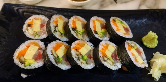 Kaisen 'Sumo' Maki - Sumo-Sized Seafood And Omelette Sushi Roll Wrapped In Nori $16