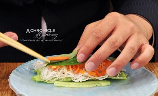 Twice-cooked Lemongrass Pork Rice Paper Rolls