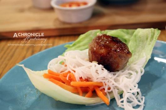Grilled Meatball Plate w. Glaze