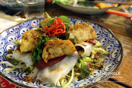 Banh Cuon - Rice Noodles Stuffed w. Pork, Mushroom, Fried Shallots