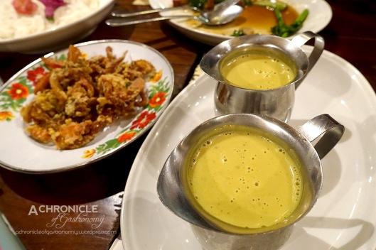 Khanom Jeen Nam Ya - Crispy Soft Shell Crab with Curry Fish Broth