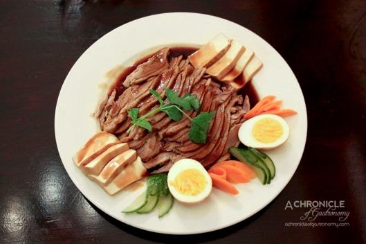 Masak Ku - Teochew Braised Duck - Sliced Duck, Tofu, Boiled Egg, Master Stock Sauce, Garlic Vinegar Dipping Sauce ($25)